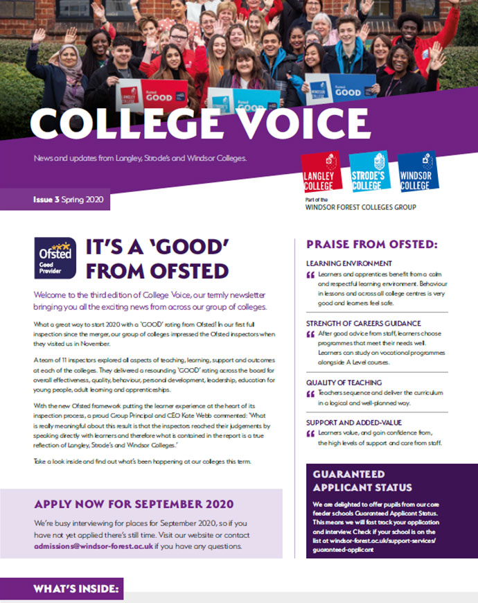 Our latest edition of College Voice is out now!