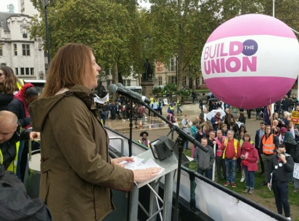 CEO Kate Webb at Love our Colleges Rally