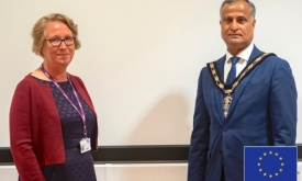 New Mayor of Slough Meets New CEO at Langley College